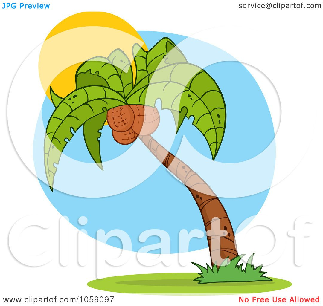 1080x1024 Royalty Free Vector Clip Art Illustration Of A Palm Tree Logo