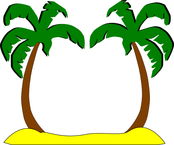 600x501 Sophies Palm Trees Clip Art