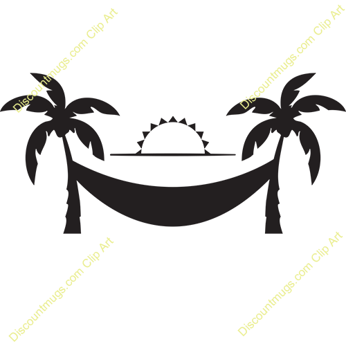 500x500 Palm Tree Hammock Clip Art Cliparts