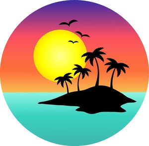 300x293 Palm Tree And Surfboard Clipart