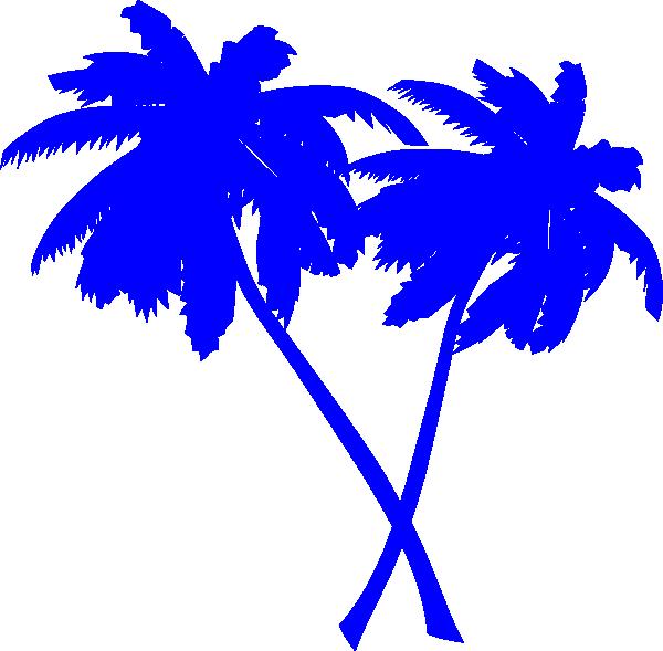 600x589 Blue Palm Tree Clipart