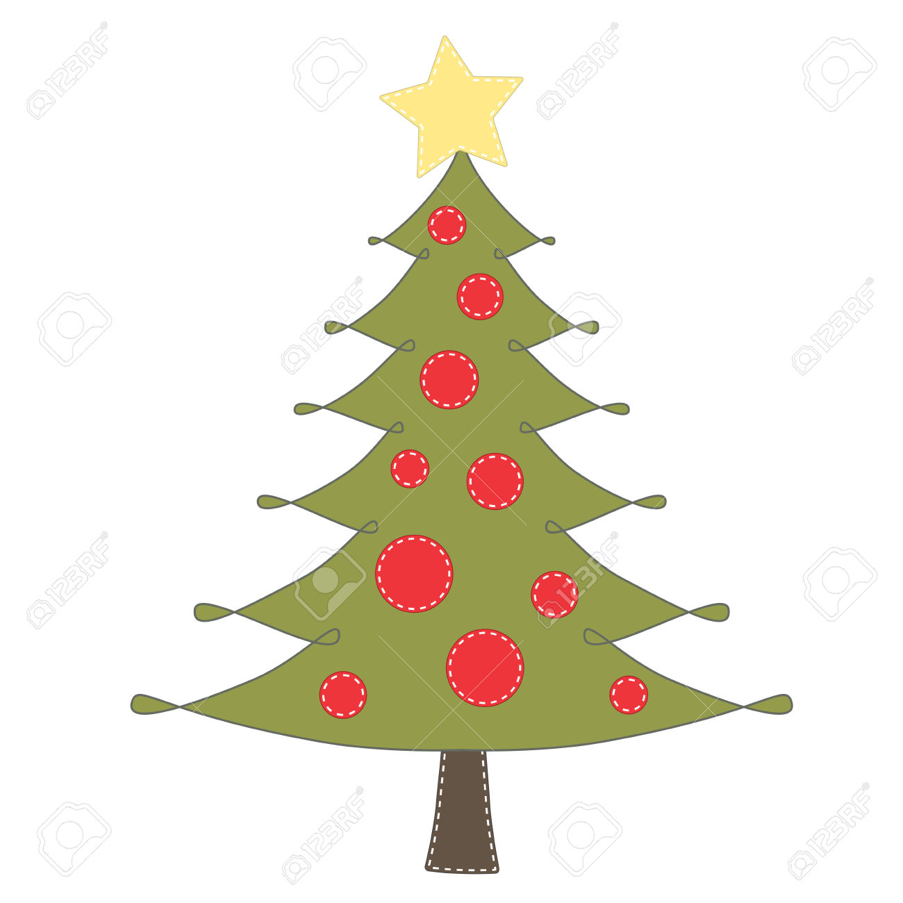 1300x1300 Christmas Tree Clipart No Background