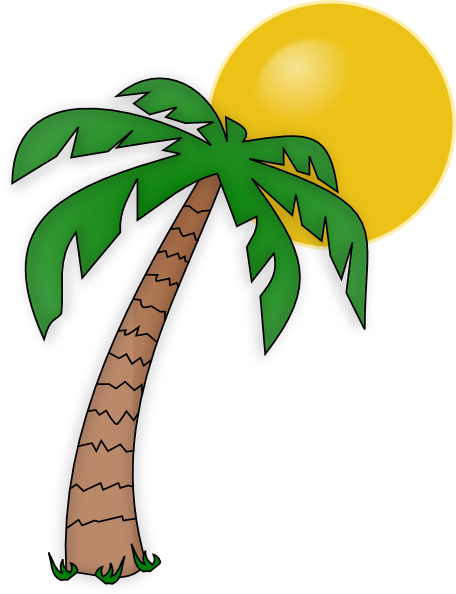 456x594 Clipart And Palm Tree