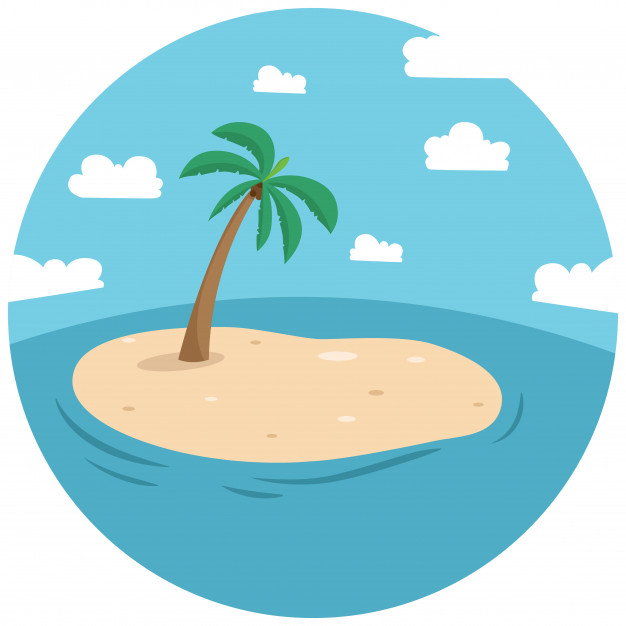Palm Tree Island Clipart | Free download on ClipArtMag