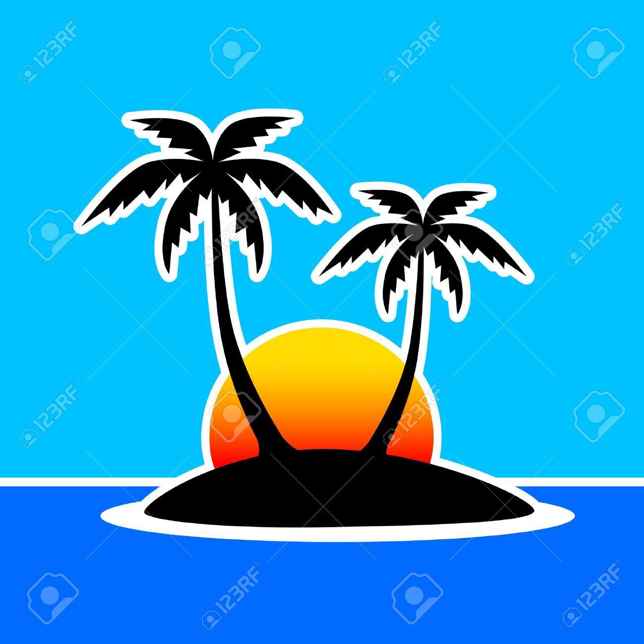 1300x1300 Sunset Clipart Palm Tree Sunset