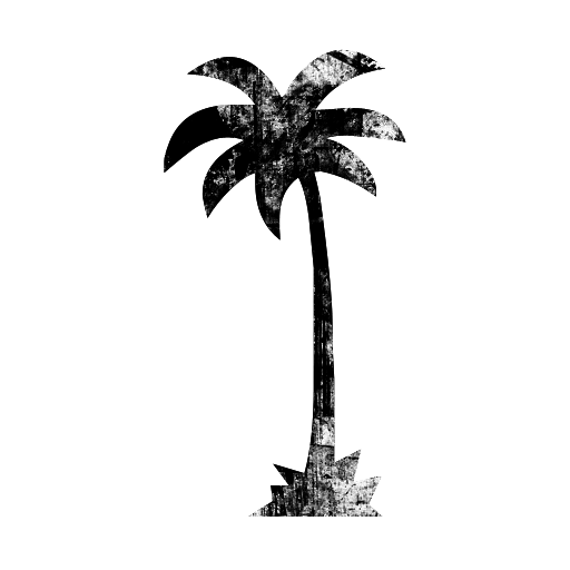 512x512 Tall Single Palm Tree Icon