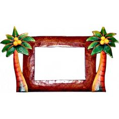 236x236 Special Moment Beach Palm Tree Photo Picture Frame 3x3 Metal