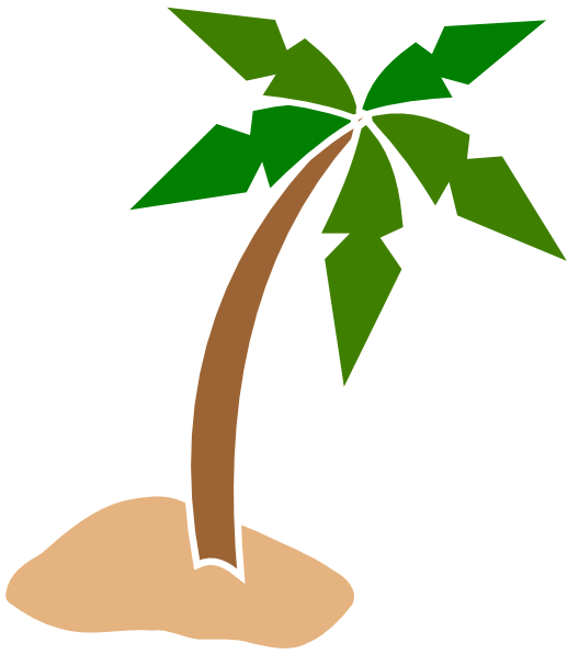 528x596 Coconut Tree Sunset Clipart