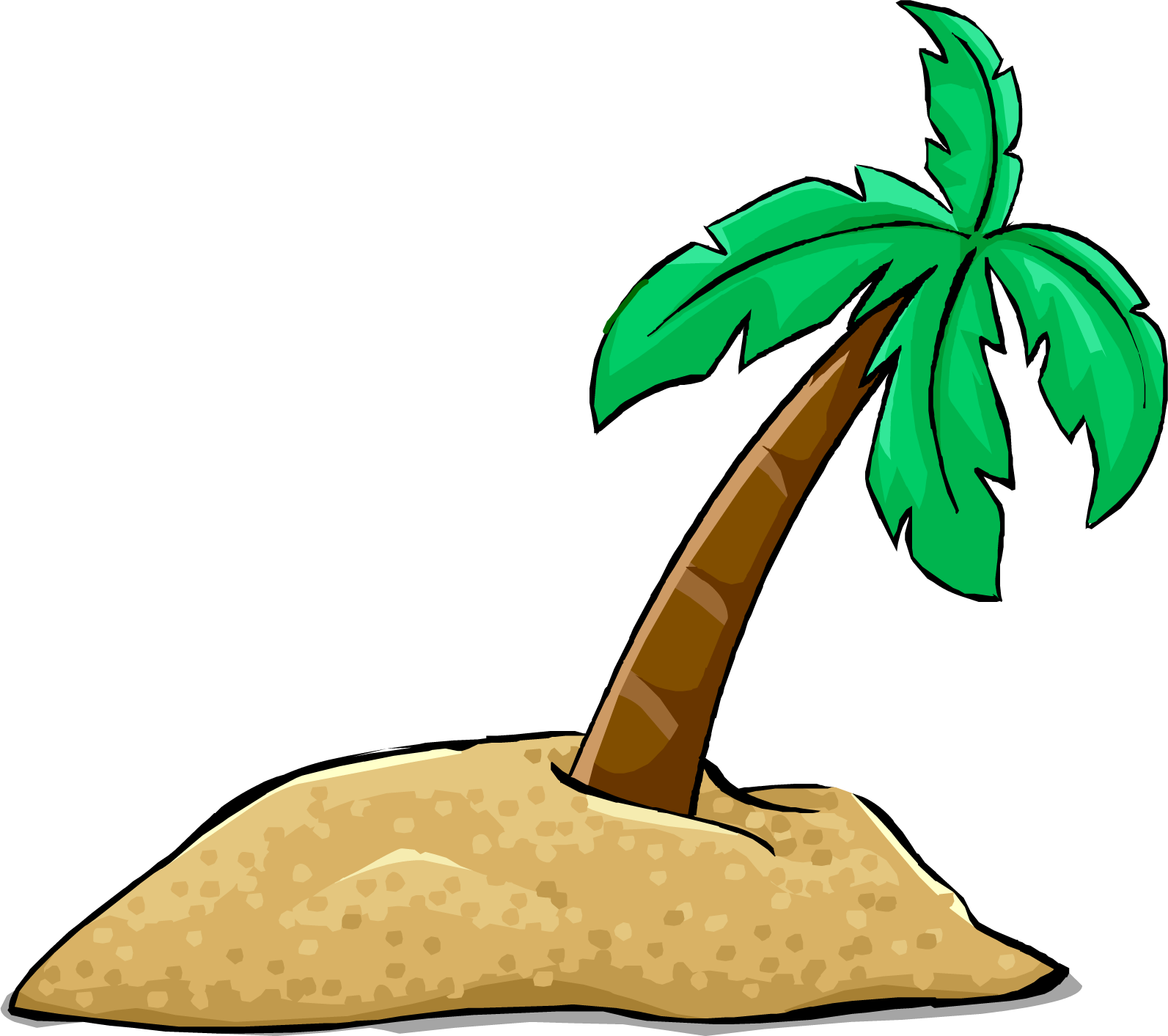 Palm Tree Island: Palm Tree Transparent Background