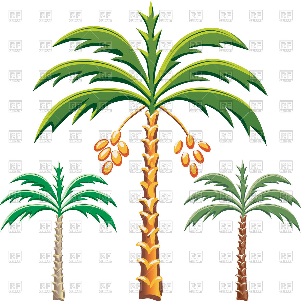 1200x1200 Date Palm Trees Royalty Free Vector Clip Art Image