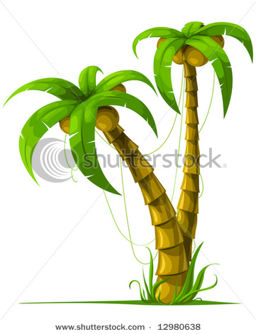 361x470 Of Tropical Palm Trees In A Vector Clip Art Illustration