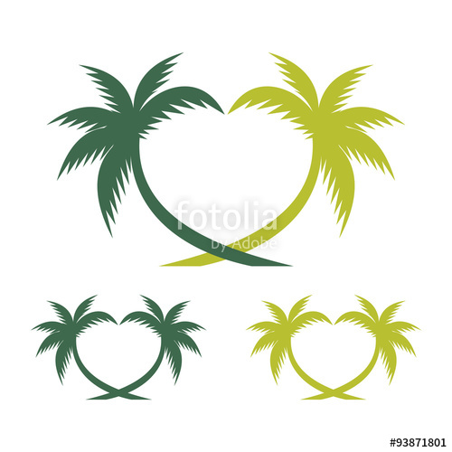 500x500 Palm Tree In Love Form Stock Image And Royalty Free Vector Files