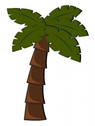 321x425 Vector Palm Tree Vector Clip Art
