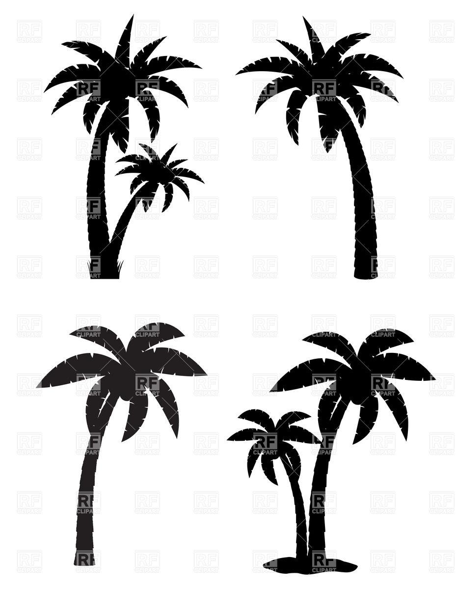 933x1200 Black Clipart Coconut Tree