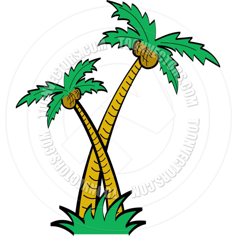 940x940 Cartoon Palm Trees Vector Illustration By Clip Art Guy Toon