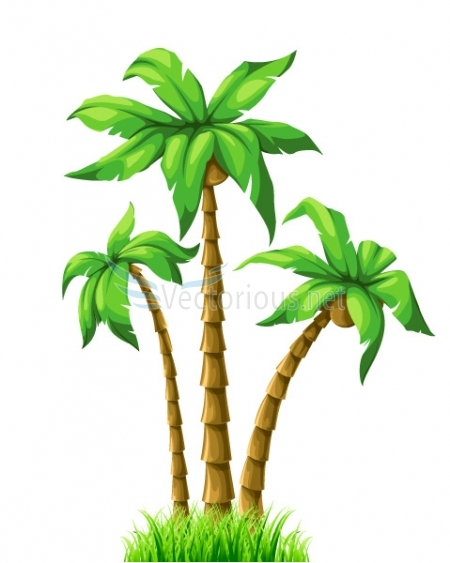 450x563 Clip Art Palm Tree Leaves Clipart