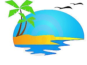 300x226 Coast Clipart Palm Tree Beach