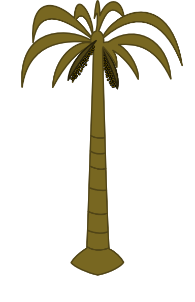 384x596 Coconut Palm Tree Clip Art