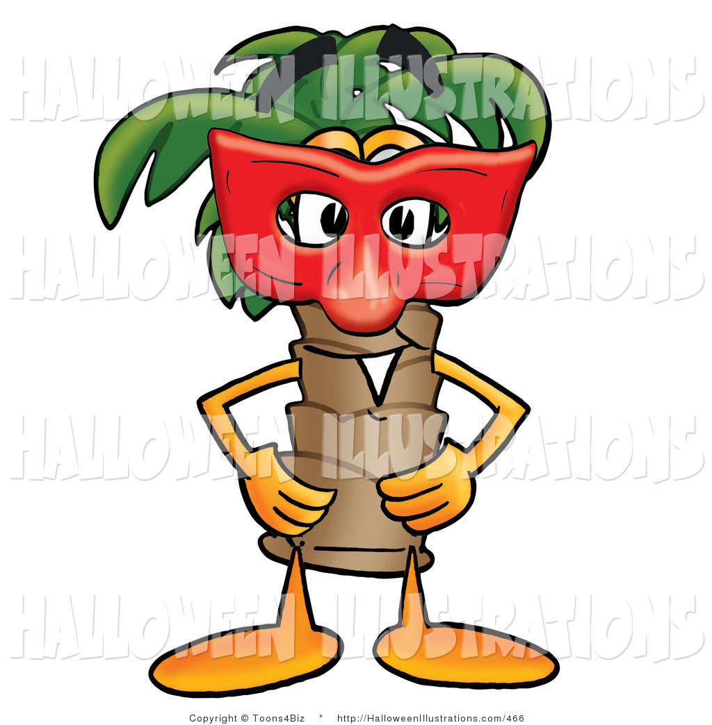 1024x1044 Halloween Clip Art Of A Tropical Palm Tree Mascot Cartoon