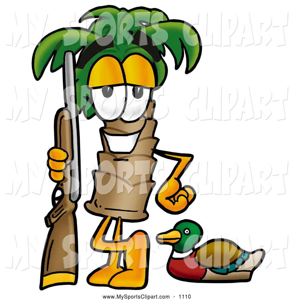 1024x1044 Sports Clip Art Of A Happy Palm Tree Mascot Cartoon Character Duck
