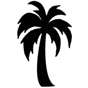 Palm Trees Clipart Black And White