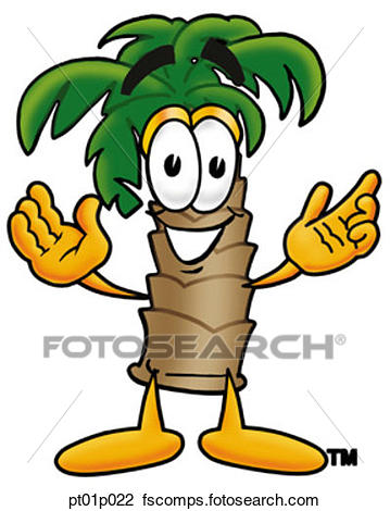 359x470 Clipart Of Palm Tree With Arms Open Pt01p022