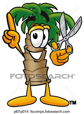 346x470 Clipart Of Palm Tree With Scissors Pt01p014