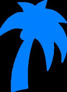 216x298 Palm Tree Light Blue Clip Art