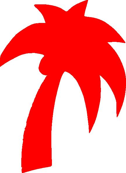 432x595 Palm Tree Light Red Clip Art