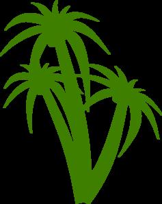237x298 Triple Palm Tree Clip Art