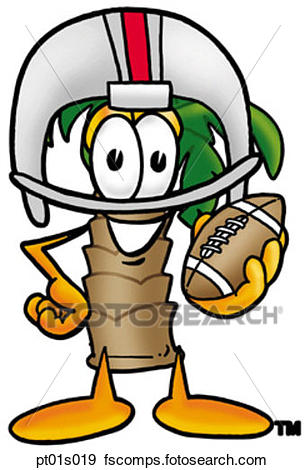 305x470 Clip Art Of Palm Tree Playing Football Pt01s019