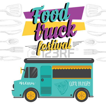 450x450 Food Truck Festival Menu Food Brochure, Street Food Template