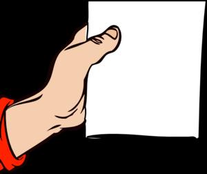 300x252 Hand Holding Brochure Clip Art