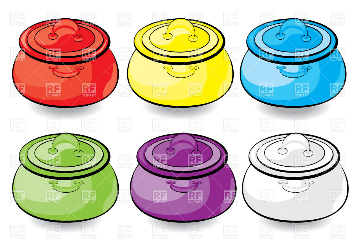 1200x848 Cartoon Stew Pan With Lid Royalty Free Vector Clip Art Image