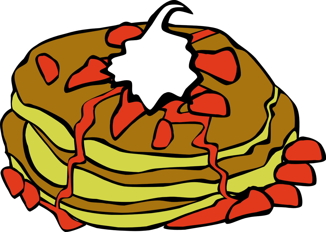 1331x946 Breakfast Clipart 0 Crepes For Breakfast Clip Art Free Image