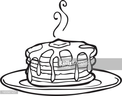 467x367 Pancake Clipart Black And White