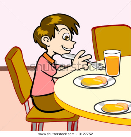448x470 Pancake Clipart Kid Breakfast