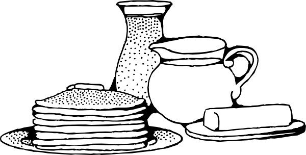600x304 Breakfast With Pancakes Clip Art Free Vector In Open Office