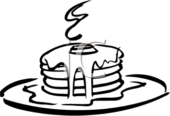 350x240 Pancake Clipart Black And White