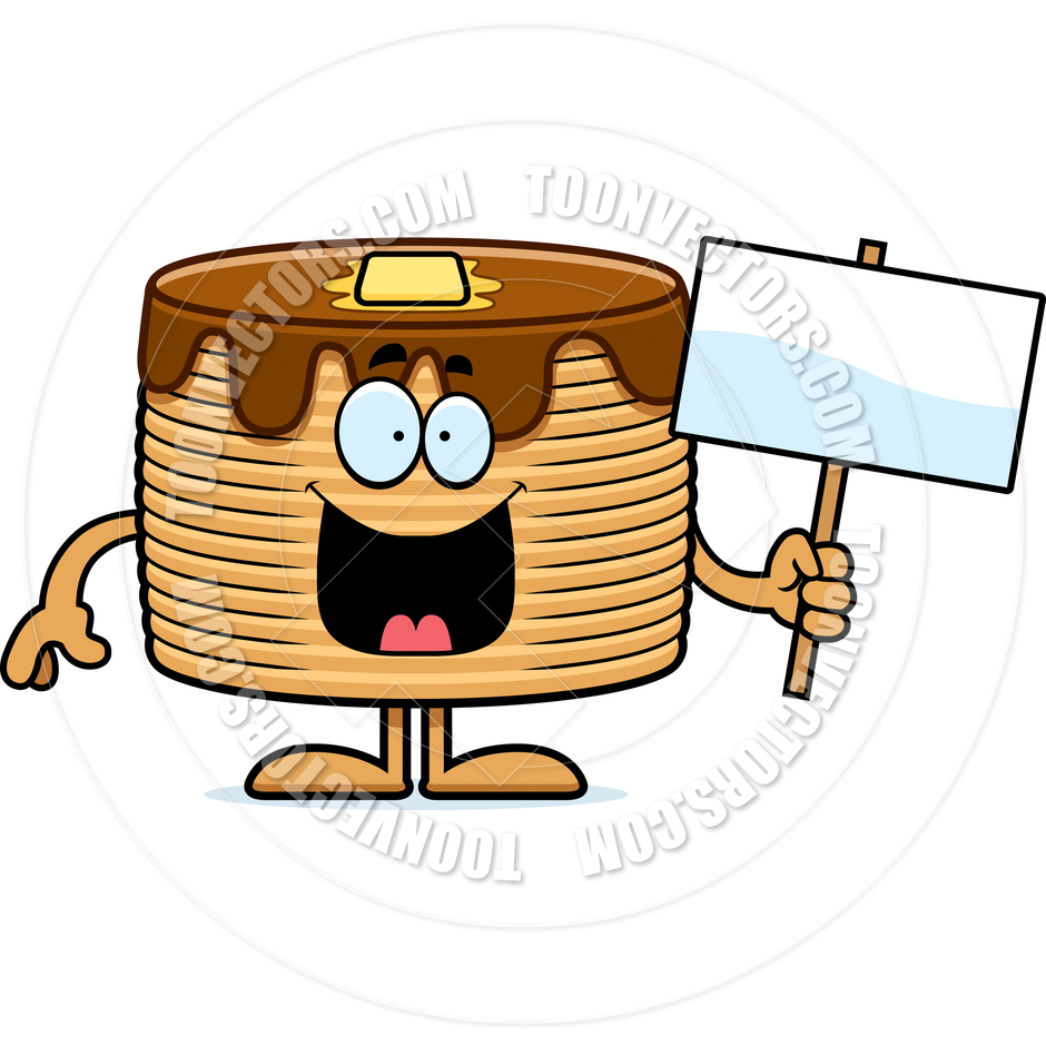 940x940 Cartoon Pancakes Sign By Cory Thoman Toon Vectors Eps