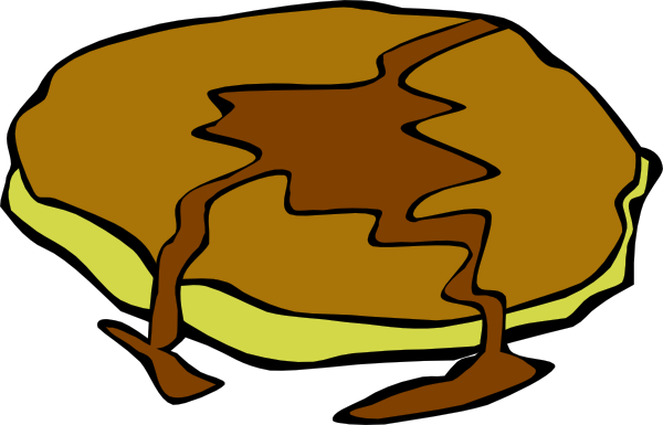 600x385 Pancake With Syrup Clip Art