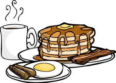 380x272 Pancake And Sausage Clipart Image