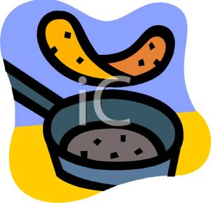 300x289 Art Image A Pancake Flipping In A Frying Pan