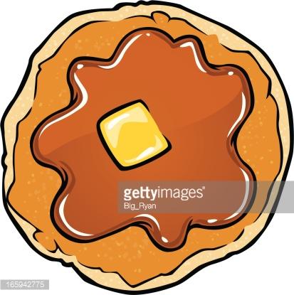 413x415 Pancake Clipart Top
