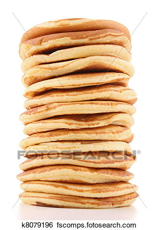 325x470 Stock Images Of Isolated Stack Of Pancakes K8079196