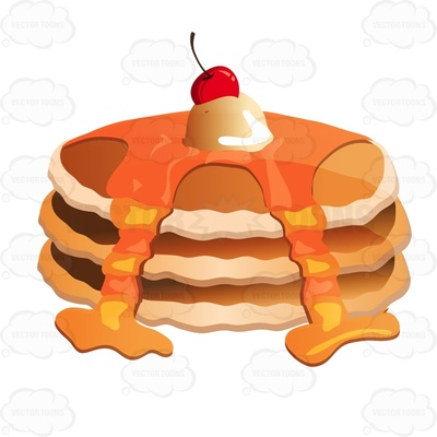 400x400 Stack Of Pancakes Clipart