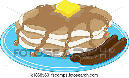 450x271 Clip Art Of Pancakes And Sausage Cliparts