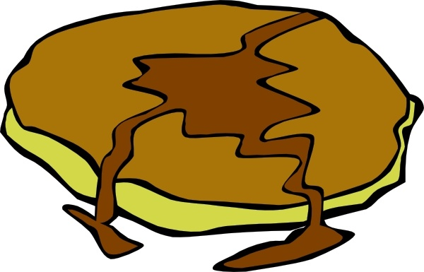 600x385 Pancake With Syrup Clip Art Free Vector In Open Office Drawing Svg