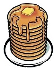 185x232 Pancake Clipart Stacked