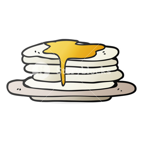 500x500 Freehand Drawn Speech Bubble Cartoon Stack Of Pancakes Royalty
